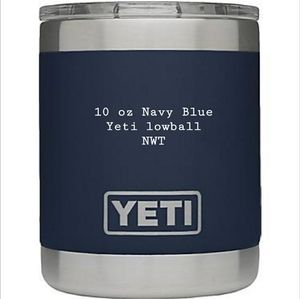 Navy Blue 10 oz Yeti lowball NWT